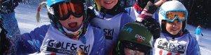 ski team kids smiling and having fun