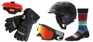 Collection of snow sport accessories