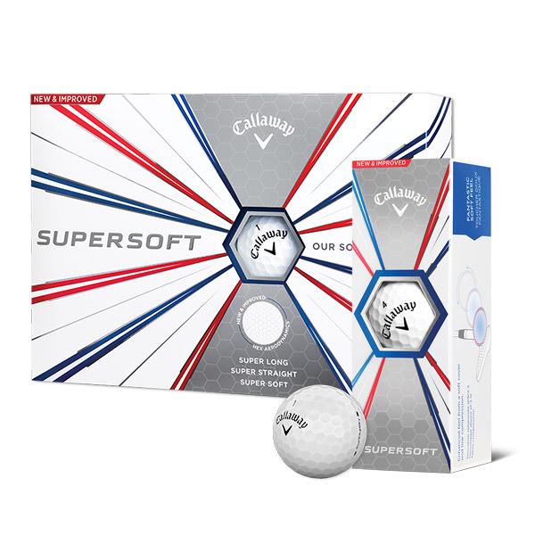 Callaway Super soft golf ball, sleeve, and box